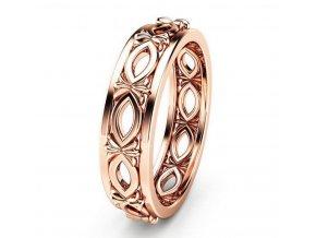 Dámský prsten z rhodiované bižuterie v bronzovém provedení SR000059