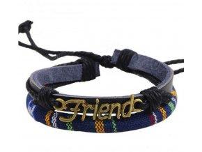 Pletený náramek z přívěskem FRIENDS SSB00087