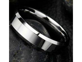 Prsten z broušené chirurgické oceli stříbrný SR000071 (Velikost 9)