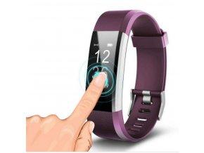 Smartband ID 115 PLUS HR- fialový SMW33