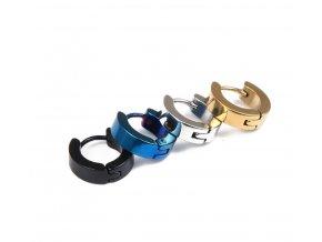 Kruhové decentní náušnice z chirurgické oceli SE000077 (Barva Zlatá)