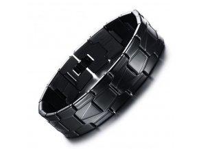 Černý Army náramek z chirurgické oceli ON17