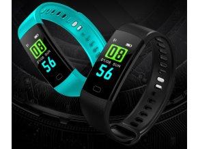 Chytrý fitness náramek Y5- 4 barvy SMW37 (Barva Modrá-tmavá)