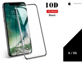 Tvrzené sklo 10D Full cover pro Iphone X/ XS 0,3mm -černá TVSK15