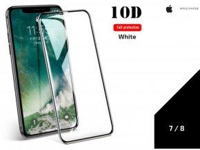 492585 tvrzene sklo 10d full cover pro iphone 7 8 0 3mm bila tvsk17