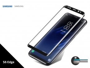 Tempered Glass Protector 3D pro Samsung S6 Edge- 0,3 mm - černá TVSK26
