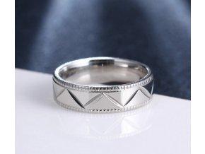 Stříbrný prsten z chirurgické oceli- Kris Kros SR000096 (Velikost 9)