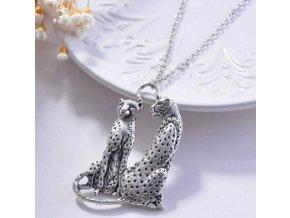Řetízek s přívěskem- Gepard z bižuterních kovů PN000169