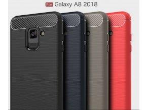 Ultratenký zadní kryt pro Samsung A8-2018 PZK10 (Barva Šedá)