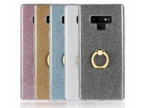Silikonový lesklý zadní kryt pro Samsung Note 9 se stojánkem PZK17 (Barva Zlatá)
