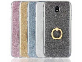Silikonový lesklý zadní kryt pro Samsung J5- 2017 se stojánkem PZK18 (Barva Zlatá)