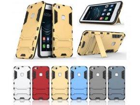 Army pevný zadní kryt se stojánkem pro Huawei P10 Lite PZK23 (Barva Zlatá)