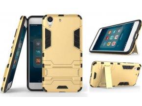 Army pevný zadní kryt se stojánkem pro Huawei Y6 Prime 2018 PZK27 (Barva Zlatá)