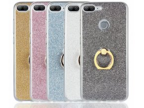 Silikonový lesklý zadní kryt se stojánkem pro Honor 9 Lite PZK47 (Barva Zlatá)