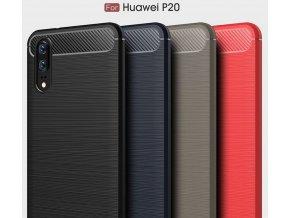 Ochranný zadní kryt pro Huawei P20 PZK55 (Barva Šedá)