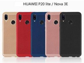 Pevný tenky ochranný kryt pro Huawei P20 Lite PZK83 (Barva Zlatá)