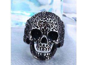 Prsten - lebka z chirurgické oceli SR130