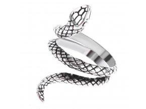 Prsten- had z bižuterních kovů - stříbrný SR137