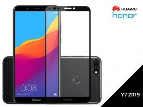 Tvrzené bezpečnostní sklo Full Cover pro Huawei Y7 2019 s černým rámečkem