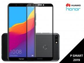 Tvrzené bezpečnostní sklo Full Cover pro Huawei P SMART 2019 s černým rámečkem