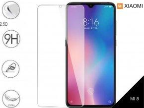Tvrzené bezrámečkové ochranné sklo 9H pro Xiaomi MI 8 TVSK67