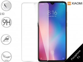 Tvrzené bezrámečkové ochranné sklo 9H pro Xiaomi Pocophone F1 TVSK74