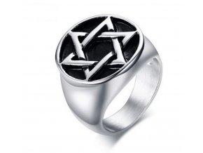 Davidova hvězda- prsten z chirurgické oceli SR144