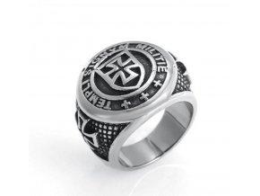 Templářšký kříž- prsten z chirurgické oceli SR146