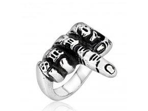 Prsten z chirurgické oceli F**k You SR151