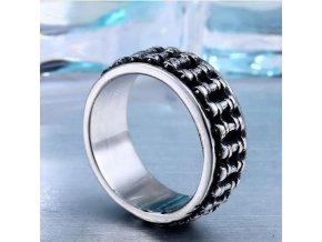 Masivní řetěz- prsten z chirurgické oceli SR152