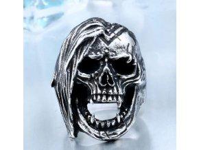 Prsten ve tvaru lebky z chirurgické oceli SR153