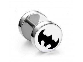 Náušnice z chirurgické oceli - motiv Batman