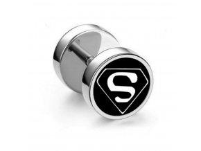 Náušnice z chirurgické oceli - motiv Superman SE122