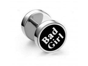 Náušnice z chirurgické oceli - motiv Bad Girl SE125