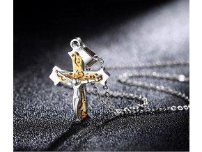 Náhrdelník - ukřižovaný Ježíš z chirurgické oceli PN184