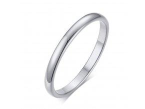 Decentní prsten Classic z chirurgické oceli - stříbrný SR175