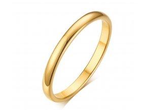 Decentní prsten Classic z chirurgické oceli - zlatý SR176