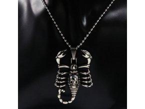 5907 retizek s priveskem scorpions z chirurgicke oceli pn000038