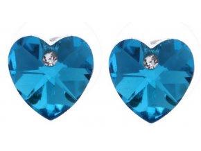 Náušnice Hearts mini CE000025 (Barva Zelená)