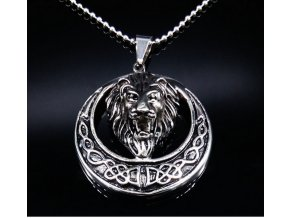 Řetízek s přívěskem lva z chirurgické oceli PN000045