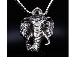 7320 4 retizek s priveskem slona z chirugicke oceli pn000047