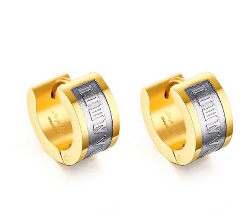 Ziskoun náušnice z chirurgické oceli SE000013 Barva: Zlatá
