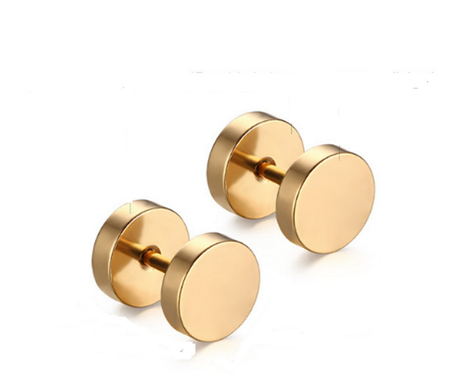 Ziskoun náušnice z chirurgické oceli SE000014 Barva: Zlatá