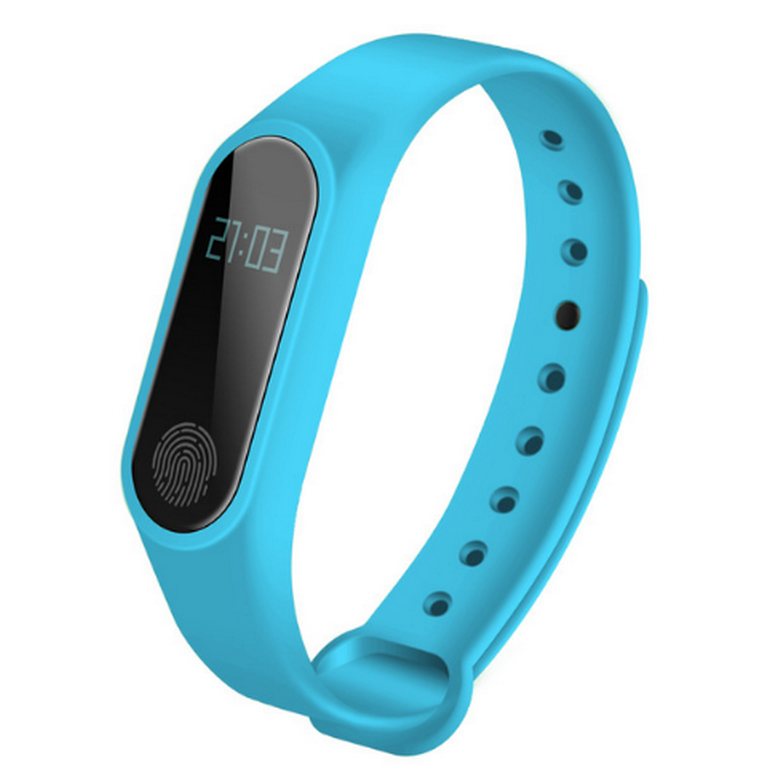 Ziskoun fitness náramek M2 - Bluetooth 4.0 SMW0001 Barva: Modrá
