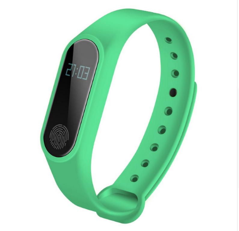 Ziskoun fitness náramek M2 - Bluetooth 4.0 SMW0001 Barva: Zelená