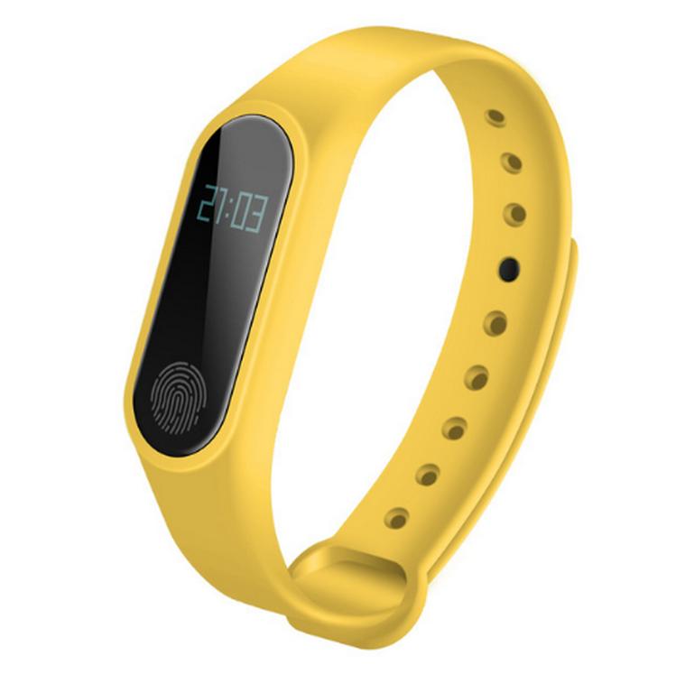 Ziskoun fitness náramek M2 - Bluetooth 4.0 SMW0001 Barva: Žlutá
