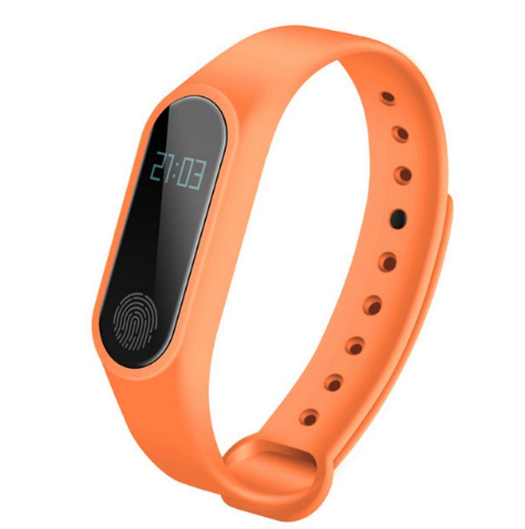 Ziskoun fitness náramek M2 - Bluetooth 4.0 SMW0001 Barva: Oranžová