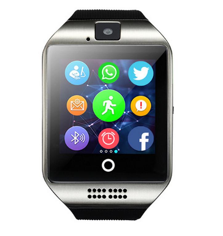 Ziskoun smartwatch Q18 s integrovanou kamerou SMW0003 Barva: Stříbrná
