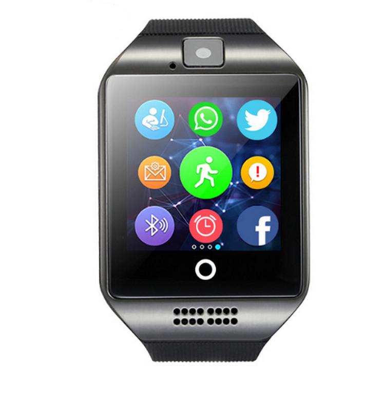 Ziskoun smartwatch Q18 s integrovanou kamerou SMW0003 Barva: Černá