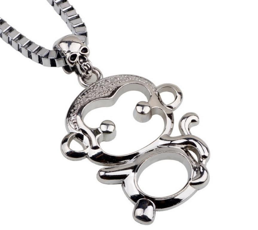 Ziskoun Náhrdelník s přívskem Opička z chirurgické oceli PN0000121